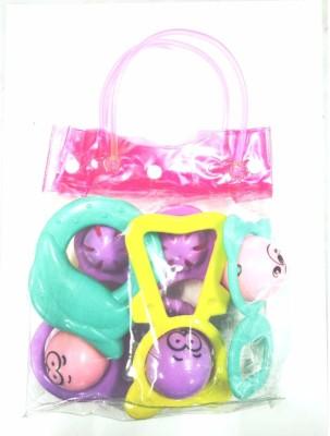 Instabuyz Infants Rattle Jhunjhuna New Born Toys Set Of 5 Pec. Rattle(Multicolor)