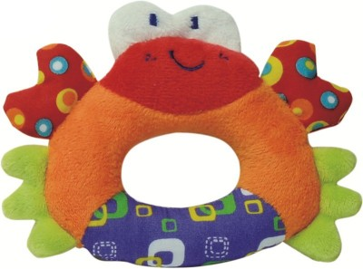 Parkfield Premium Developmental Baby Learning Toy -Hand Rattle (Crab) Rattle(Multicolor)