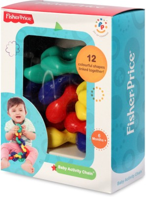 Fisher-Price Baby Activity Chain Rattle(Multicolor)  available at flipkart for Rs.193