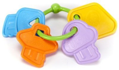 Green Toys My First Keys Baby Toy Rattle(Multicolor)