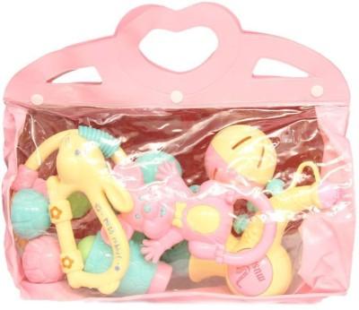 Homeshopeez Lovely Baby 6 Pcs - Amnpnk Rattle(Multicolor)