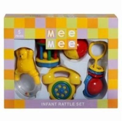 Meemee Musical Rattle Set (Set of 4 Piece) 1 M+ Rattle(Yellow)