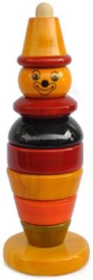 Kidz Valle Multi Color Clown Stacker Rattle(Multicolor)