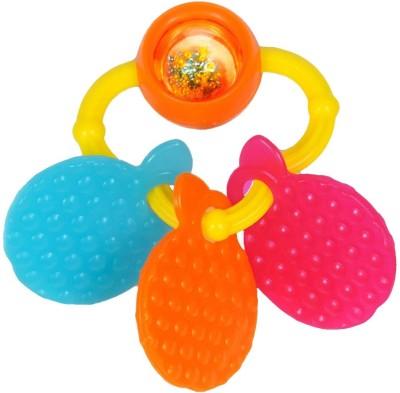 Funskool Giggles Orange Teether Rattle(Orange)