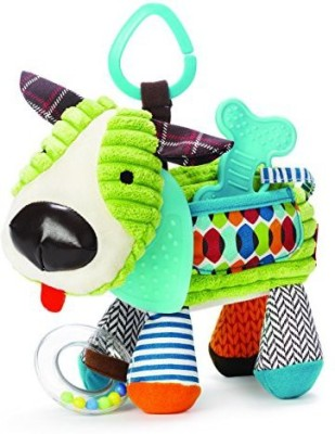 Skip Hop Bandana Buddies Activity Toy, Puppy Rattle(Multicolor)