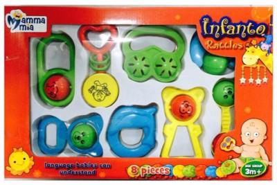 Instabuyz Infants Rattle Jhunjhuna New Born Toys Set Of 8 Pec . Rattle(Multicolor)