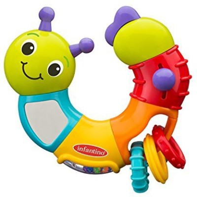 Infantino Topsy Turvy Twist and Play Caterpillar Rattle(Multicolor)