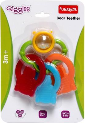 Funskool Giggles Bear Teether Rattle(Multicolor)