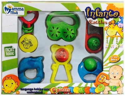 Instabuyz Infants Jhunjhuna New Born Toys Set Of 6 Pec dk. Rattle Rattle(Multicolor)
