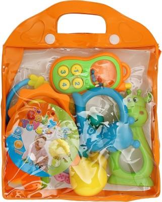 BornBabyKids baby Toy set Rattle(Multicolor)