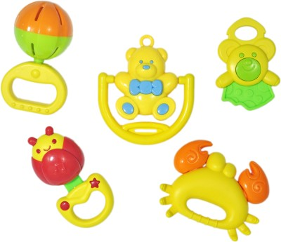 Babysid Collections 5Pcs Toy Set Rattle(Multicolor)