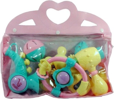 MK Enterprises Baby Rattle Set Rattle(Multicolor)