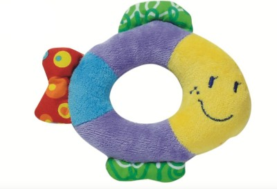 Parkfield Premium Developmental Learning Toy - Baby Hand (Fish) Rattle(Multicolor)