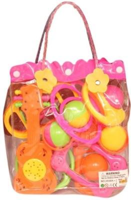 Homeshopeez Baby 8 Pcs Bag Rattle(Multicolor)
