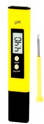 BalRama PH Meter Water Tester LCD Display with Care Box Bath Thermometer (Yellow, Red)