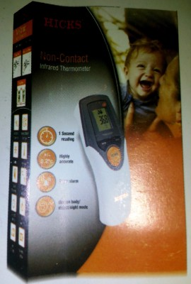 Hicks Non-Contact Infrared Thermometer Bath Thermometer(White)