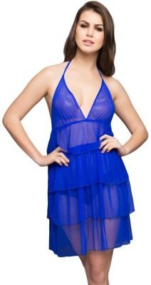 Clovia Women Nighty(Blue)
