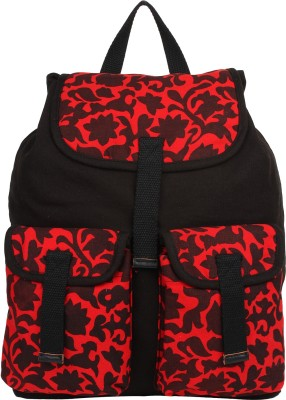 Anekaant Monochrome 16 L Free Size Backpack Red, Black Anekaant Backpack Handbags