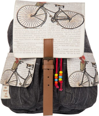 The House of Tara Printed Canvas 047 20 L Medium Backpack Multicolor The House of Tara Backpacks