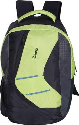 Zwart VEZIK 20 L Medium Backpack(Black, Green) at flipkart