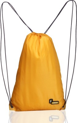 F Gear String Gym Bag 11.5 L Small Backpack(Yellow)  available at flipkart for Rs.249
