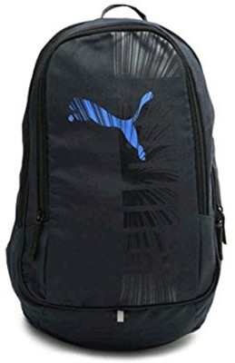 Puma Graphic Blue 33 L Backpack(Black, Blue)