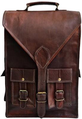Pranjals House real leather messenger shoulder bag c 15 L Laptop Backpack Brown Pranjals House Backpacks