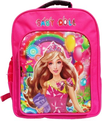 victory traders Barbie Pink Doll 7 L Backpack(Pink)  available at flipkart for Rs.449