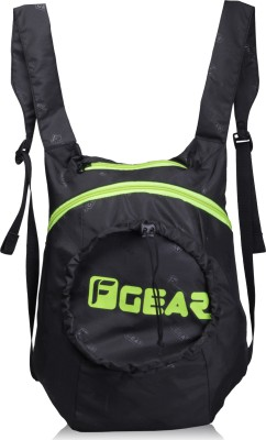 F Gear Crest V2 15 L Backpack(Black, Green)  available at flipkart for Rs.390