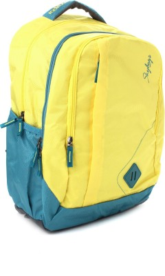 Skybags Backpack(Green, Yellow)