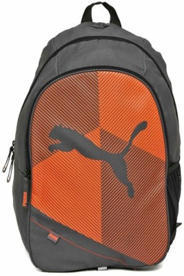 Puma Echo Plus Dark Grey Orange 2K16 Unisex 25 L Backpack(Grey)