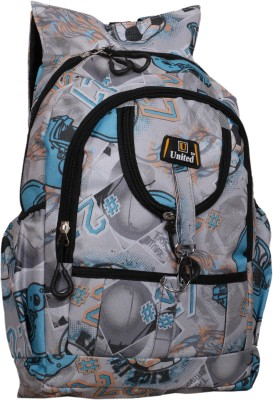 U United White Football 13 L Backpack Grey U United Backpacks