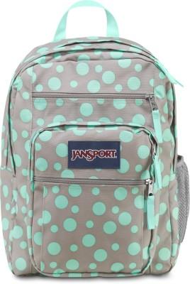 JanSport Big Student 34 L Backpack(Grey, Green)