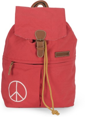 The House of Tara Canvas 23 L Backpack Red The House of Tara Backpack Handbags