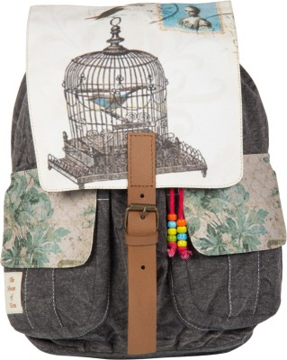 The House of Tara Printed Canvas 046 20 L Medium Backpack Multicolor The House of Tara Backpacks