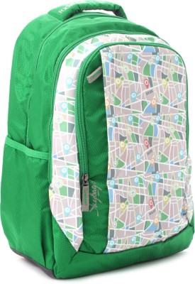 Skybags Backpack(Multicolor, Green)