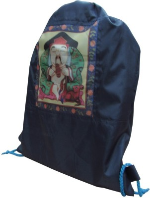 Indha Craft Fortune Monk print 5 L backpack(Blue)  available at flipkart for Rs.130
