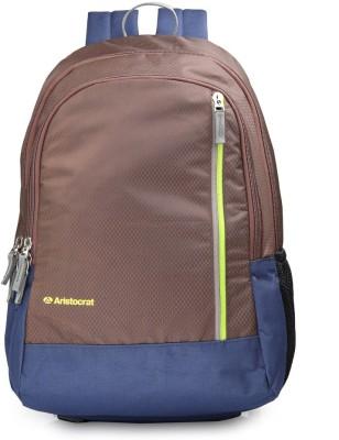 Aristocrat Pep 03 Brown 22 L Backpack(Brown)