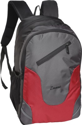 Zwart UDIVO R 20 L Medium Laptop Backpack Red, Grey