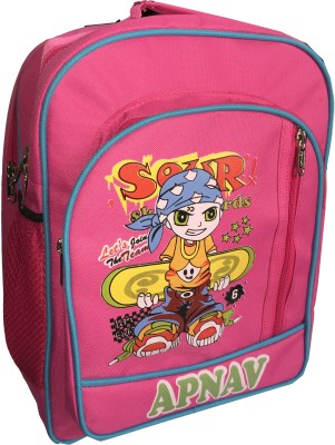 Apnav Waterproof Backpack(Pink, 14 inch)
