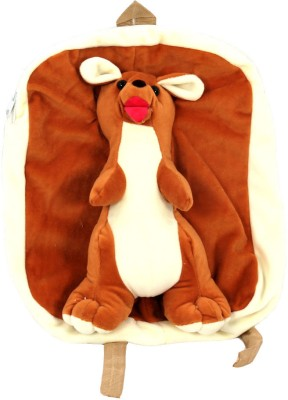 Glitz Baby Glitz Baby Cartoon Character Brown School Bag Backpack(Brown, White, 10 L)