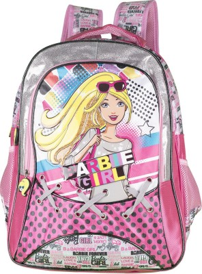 Barbie Girl Waterproof School Bag(Multicolor, 18 inch)