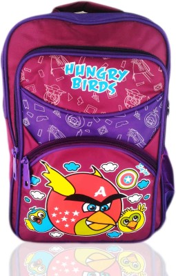 Digital Bazar Angry birds school hungry birds Waterproof School Bag(Pink, 15 inch)  available at flipkart for Rs.888