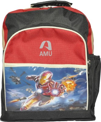 AMU Waterproof School Bag(Multicolor, 14 inch)