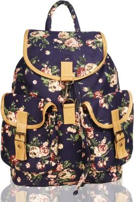 White Flower School Bag(Navy, 17 L) at flipkart