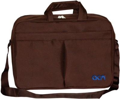 ACM 12 inch Expandable Laptop Messenger Bag Brown