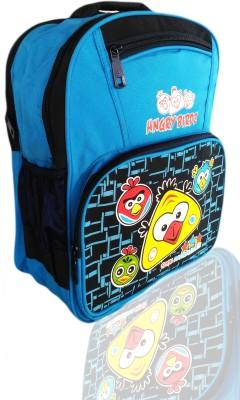 Digital Bazar Sharjah Blue Angry Birds Kids Backpack Cartoon Net Waterproof School Bag(Blue, 16 inch)  available at flipkart for Rs.1010