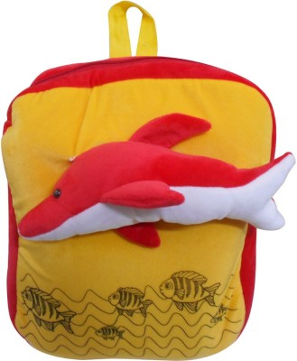 Natali Traders Dolphin School Backpack For Kids   40 cm Yellow Natali Traders Soft Toys