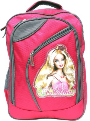 Arip Barbie Doll Waterproof School Bag(Pink, 17 inch)  available at flipkart for Rs.445