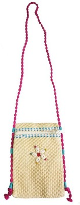 CraftEra Lovely Cream And Pink Color Sling Handbag For Women And Girls Sling Bag(Cream, Pink, 23 L)